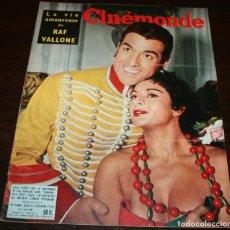 Cine: REVISTA CINÉMONDE - 27 DICIEMBRE 1956 - Nº 1168 - EN PORTADA: LOLA FLORES / LUIS MARIANO, EN FRANCÉS. Lote 94912931