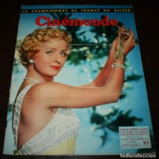 Cine: REVISTA CINÉMONDE - 20 DICIEMBRE 1956 - Nº 1167 - EN PORTADA: DANIELLE DARRIEUX - EN FRANCÉS. Lote 94913099