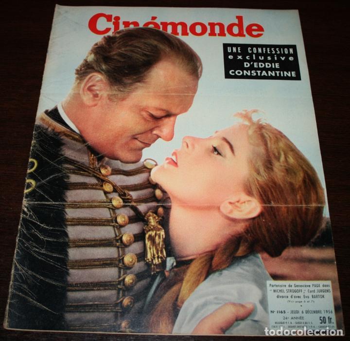 REVISTA CINÉMONDE - 6 DICIEMBRE 1956 - Nº 1165 - EN PORTADA: CURD JURGENS/EVA BARTOK - EN FRANCÉS (Cine - Revistas - Otros)