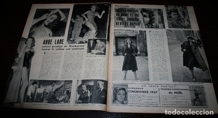 Cine: REVISTA CINÉMONDE - 6 DICIEMBRE 1956 - Nº 1165 - EN PORTADA: CURD JURGENS/EVA BARTOK - EN FRANCÉS - Foto 2 - 94913291