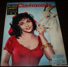Cine: REVISTA CINÉMONDE - 13 DICIEMBRE 1956 - Nº 1166 - EN PORTADA: GINA LOLLOBRIGIDA - EN FRANCÉS. Lote 94913395