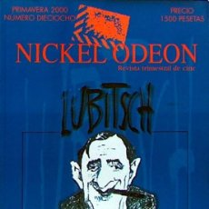 Cine: NICKEL ODEON Nº 18 PRIMAVERA 2000, ERNST LUBITSCH, 190 PAGINAS. Lote 94923347