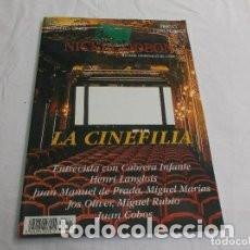Cine: NICKEL ODEON, REVISTA TRIMESTRAL DE CINE,NUMERO 11 / LA CINEFILIA. Lote 94923423