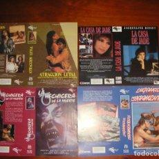 Cine: LOTE DE 8 CARÁTULAS DE VÍDEO ORIGINALES (VISA FILMS) CARÁTULA VHS Y BETA. Lote 83866684