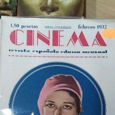Cine: CINEMA. NUMERO EXTRAORDINARIO FEBRERO 1932. Lote 95011624