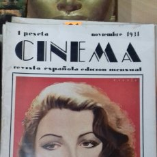 Cine: CINEMA. NOVIEMBRE 1931. . Lote 95011830