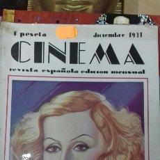 Cine: CINEMA. DICIEMBRE 1931. Lote 95012363