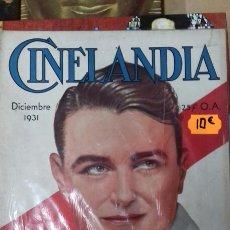 Cine: CINELANDIA. DICIEMBRE 1931.. Lote 95013207