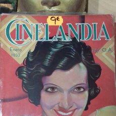 Cine: CINELANDIA. ENERO 1932. Lote 95013331