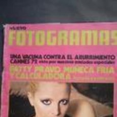 Cine: FOTOGRAMAS 1231-1972-PATTY PRAVO-ORIOL REGAS-ROCIO DURCAL-PETER O´TOOLE-LA TRINCA-COMUNAS- . Lote 95591147