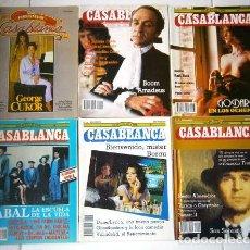 Cine: LOTE DE 6 REVISTAS CASABLANCA DIRIGIDA POR JOSÉ CARLOS ARÉVALO EN MADRID, 1983-1985. Lote 50266581
