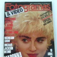 Cine: REVISTA FOTOGRAMAS N°1734 AÑO 1987 MADONNA.. Lote 95701990