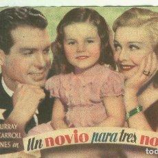 Cine: PROGRAMAS DE CINE: UN NOVIO PARA TRES NOVIAS. Lote 95787058