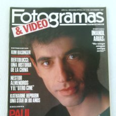 Cine: REVISTA FOTOGRAMAS N°1735 AÑO 1987 IMANOL ARIAS. Lote 95839004