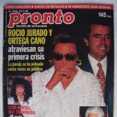 Cine: SARA MONTIEL, ROCÍO JURADO E ISABEL PANTOJA . REVISTA PRONTO, DE 1996.. Lote 95845959