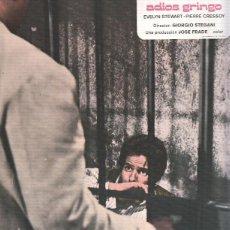 Cine: CARATULA DE CINE: ADIOS GRINGO / ADIOS GRINGO (NUMERADO 09 EN TRASERA). Lote 95850182