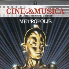 Cine: CINE & MUSICA: NUMERO 21: METROPOLIS. Lote 95855239