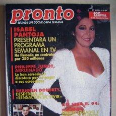 Cine: ISABEL PANTOJA, MANOLO ESCOBAR Y AL PACINO . REVISTA PRONTO, DE 1994.. Lote 95907867