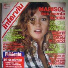 Cine: MARISOL Y BRIGITTE BARDOT . REVISTA INTERVÍU, DE 1979.. Lote 95908047