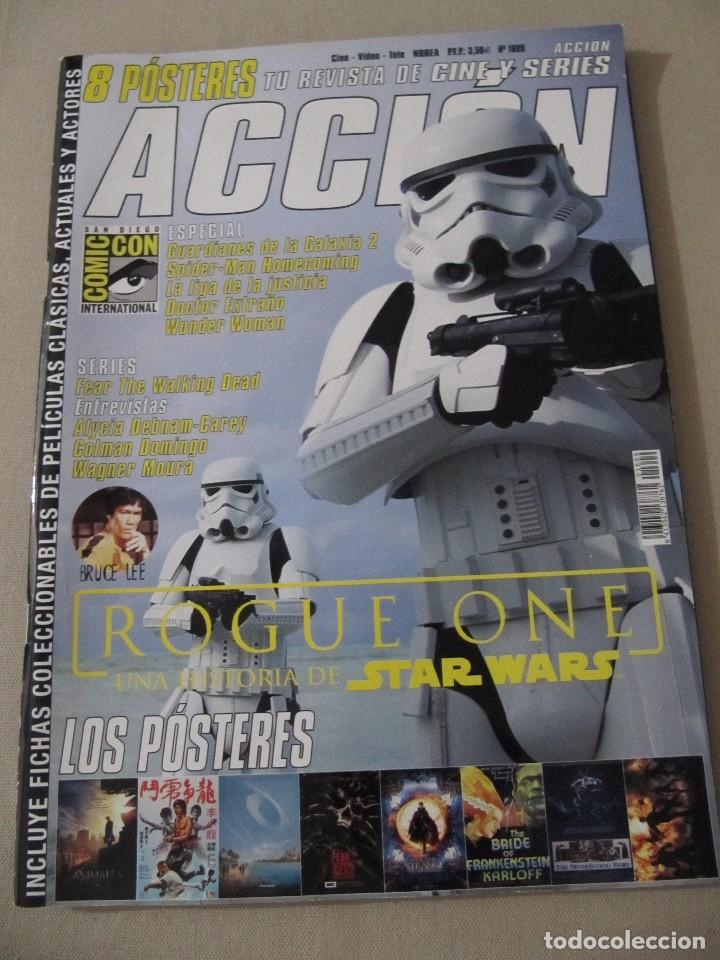 REVISTA ACCION 1609 ROGUE ONE STAR WARS LA HISTORIA INTERMINABLE LA NOVIA DE FRANKENSTEIN (Cine - Revistas - Acción)