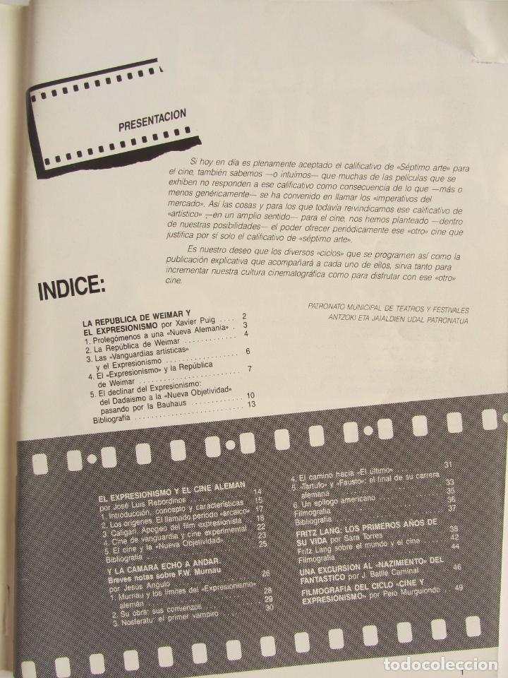 Cine: REVISTA PRE NOSFERATU (VER DESCRIPCIÓN) CINE Y EXPRESIONISMO: ALEMANIA AÑOS 20 MUY RARA REVISTA - Foto 5 - 139640278