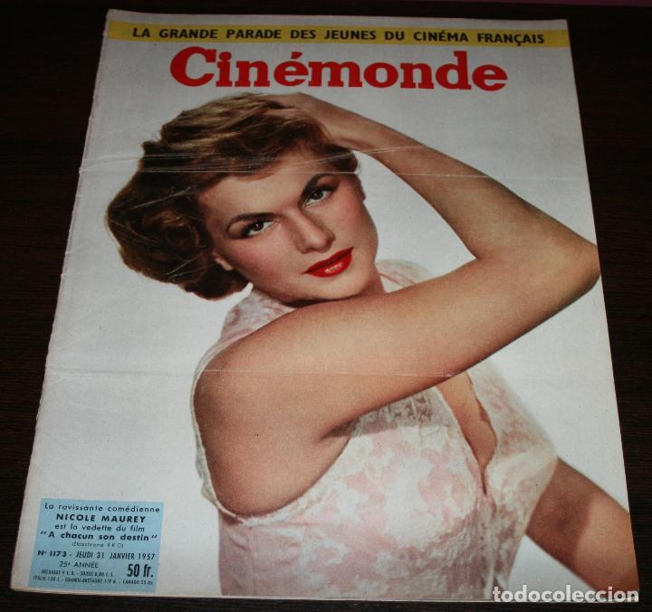 REVISTA CINÉMONDE - 31 ENERO 1957 - Nº 1173 - EN PORTADA: NICOLE MAUREY - EN FRANCÉS (Cine - Revistas - Otros)