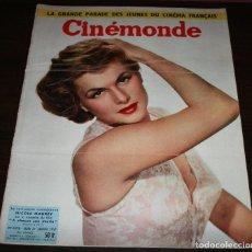 Cine: REVISTA CINÉMONDE - 31 ENERO 1957 - Nº 1173 - EN PORTADA: NICOLE MAUREY - EN FRANCÉS. Lote 96100407