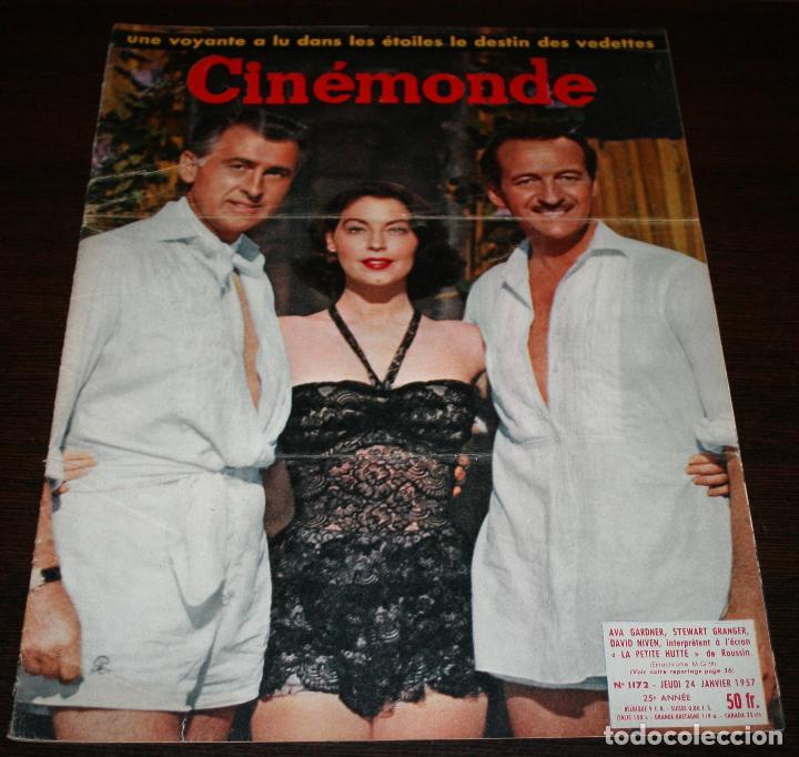 REVISTA CINÉMONDE - 24 ENERO 1957 - Nº 1172 - EN PORTADA: AVA GARDNER, DAVID NIVEN... - EN FRANCÉS (Cine - Revistas - Otros)