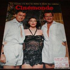 Cine: REVISTA CINÉMONDE - 24 ENERO 1957 - Nº 1172 - EN PORTADA: AVA GARDNER, DAVID NIVEN... - EN FRANCÉS. Lote 96100699