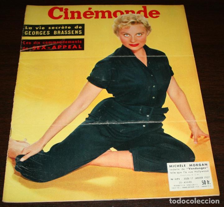 REVISTA CINÉMONDE - 17 ENERO 1957 - Nº 1171 - EN PORTADA: MICHELE MORGAN - EN FRANCÉS (Cine - Revistas - Otros)