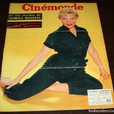 Cine: REVISTA CINÉMONDE - 17 ENERO 1957 - Nº 1171 - EN PORTADA: MICHELE MORGAN - EN FRANCÉS. Lote 96101175