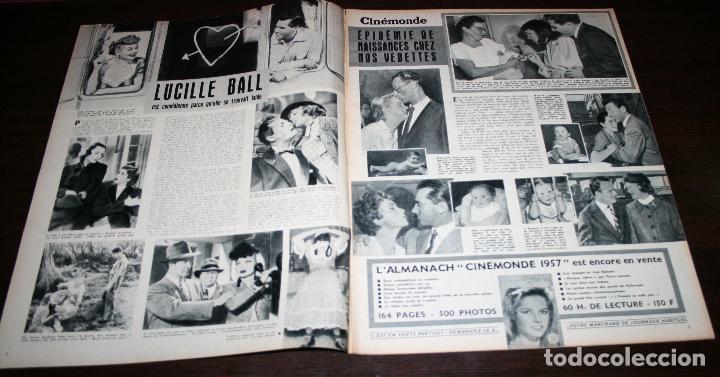 Cine: REVISTA CINÉMONDE - 17 ENERO 1957 - Nº 1171 - EN PORTADA: MICHELE MORGAN - EN FRANCÉS - Foto 2 - 96101175