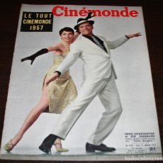 Cine: REVISTA CINÉMONDE - 10 ENERO 1957 - Nº 1170 - EN PORTADA: EDDIE CONSTANTINE, ZIZI... - EN FRANCÉS. Lote 96101607