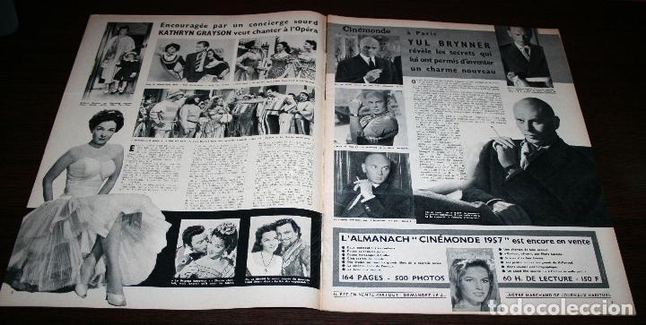 Cine: REVISTA CINÉMONDE - 10 ENERO 1957 - Nº 1170 - EN PORTADA: EDDIE CONSTANTINE, ZIZI... - EN FRANCÉS - Foto 2 - 96101607