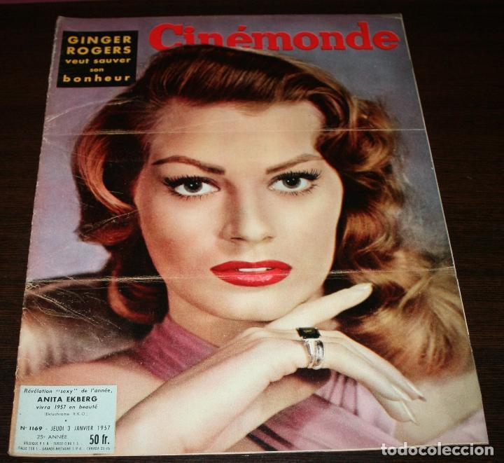REVISTA CINÉMONDE - 3 ENERO 1957 - Nº 1169 - EN PORTADA: ANITA EKBERG... - EN FRANCÉS (Cine - Revistas - Otros)