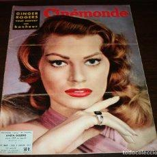 Cine: REVISTA CINÉMONDE - 3 ENERO 1957 - Nº 1169 - EN PORTADA: ANITA EKBERG... - EN FRANCÉS. Lote 96101927