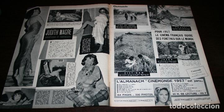Cine: REVISTA CINÉMONDE - 3 ENERO 1957 - Nº 1169 - EN PORTADA: ANITA EKBERG... - EN FRANCÉS - Foto 2 - 96101927