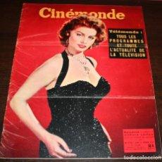 Cine: REVISTA CINÉMONDE - 21 FEBRERO 1957 - Nº 1176 - EN PORTADA: SOPHIA LOREN - EN FRANCÉS. Lote 96102647