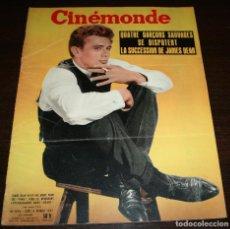 Cine: REVISTA CINÉMONDE - 14 FEBRERO 1957 - Nº 1175 - EN PORTADA: JAMES DEAN - EN FRANCÉS. Lote 96102951