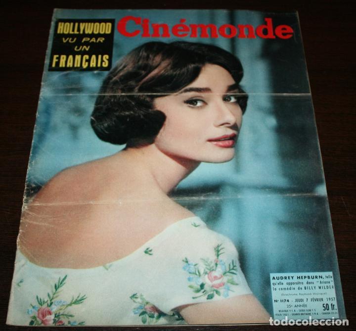 REVISTA CINÉMONDE - 7 FEBRERO 1957 - Nº 1174 - EN PORTADA: AUDREY HEPBURN - EN FRANCÉS (Cine - Revistas - Otros)