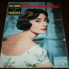 Cine: REVISTA CINÉMONDE - 7 FEBRERO 1957 - Nº 1174 - EN PORTADA: AUDREY HEPBURN - EN FRANCÉS. Lote 96107227