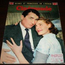 Cine: REVISTA CINÉMONDE - 28 MARZO 1957 - Nº 1181 - EN PORTADA: LAUREN BACALL, GREGORY PECK - EN FRANCÉS. Lote 96107591