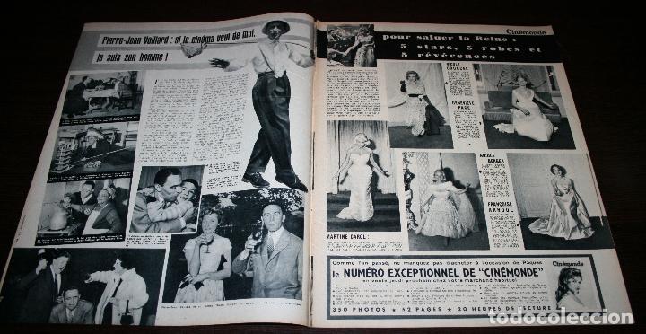 Cine: REVISTA CINÉMONDE - 28 MARZO 1957 - Nº 1181 - EN PORTADA: LAUREN BACALL, GREGORY PECK - EN FRANCÉS - Foto 2 - 96107591