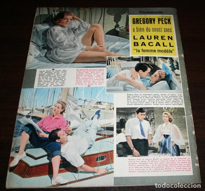 Cine: REVISTA CINÉMONDE - 28 MARZO 1957 - Nº 1181 - EN PORTADA: LAUREN BACALL, GREGORY PECK - EN FRANCÉS - Foto 6 - 96107591