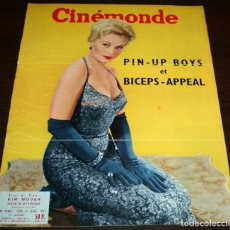 Cine: REVISTA CINÉMONDE - 21 MARZO 1957 - Nº 1180 - EN PORTADA: KIM NOVAK - EN FRANCÉS. Lote 96107915