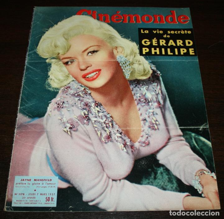 REVISTA CINÉMONDE - 7 MARZO 1957 - Nº 1178 - EN PORTADA: JAYNE MANSFIELD - EN FRANCÉS (Cine - Revistas - Otros)