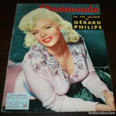 Cine: REVISTA CINÉMONDE - 7 MARZO 1957 - Nº 1178 - EN PORTADA: JAYNE MANSFIELD - EN FRANCÉS. Lote 96108587