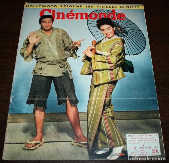 REVISTA CINÉMONDE - 11 ABRIL 1957 - Nº 1183 - EN PORTADA: MARLON BRANDO, MACHIKO KYO - EN FRANCÉS (Cine - Revistas - Otros)