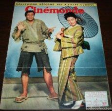 Cine: REVISTA CINÉMONDE - 11 ABRIL 1957 - Nº 1183 - EN PORTADA: MARLON BRANDO, MACHIKO KYO - EN FRANCÉS. Lote 96108835