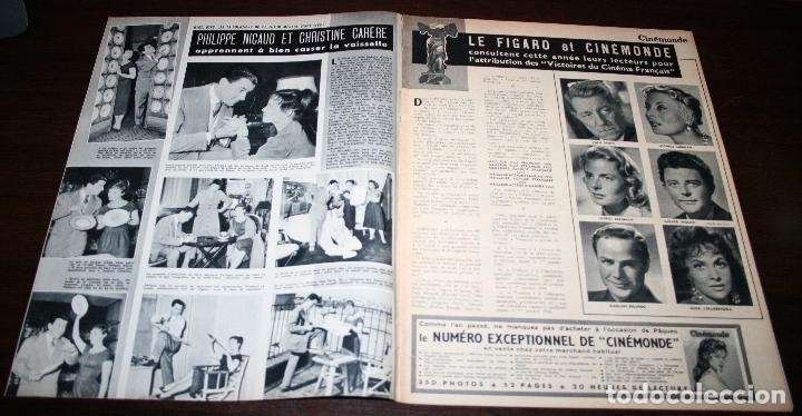 Cine: REVISTA CINÉMONDE - 11 ABRIL 1957 - Nº 1183 - EN PORTADA: MARLON BRANDO, MACHIKO KYO - EN FRANCÉS - Foto 2 - 96108835